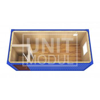 (БК-02) Бытовка металлическая (блок-контейнер) с тамбуром