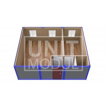 (ПЗ-31) Модульный штаб из 3-х бытовок (блок-контейнеров) с кабинетом