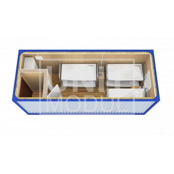 (БЖ-02) Бытовка металлическая (блок-контейнер) жилая с тамбуром