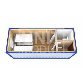 (БЖ-06) Бытовка металлическая (блок-контейнер) жилая с санузлом