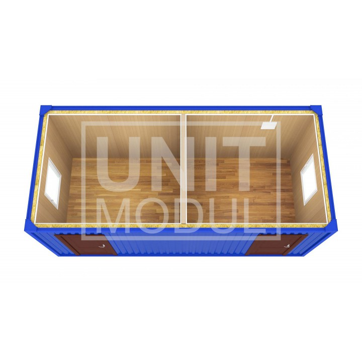 (БК-07) Бытовка металлическая (блок-контейнер) разделенная недорого