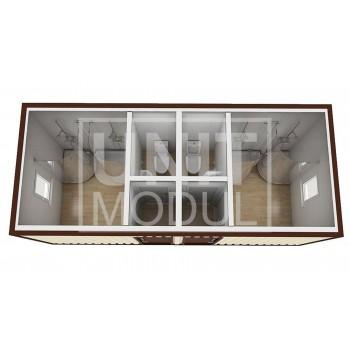 (СБ-05) Бытовка металлическая (блок-контейнер) сантехническая с душевыми