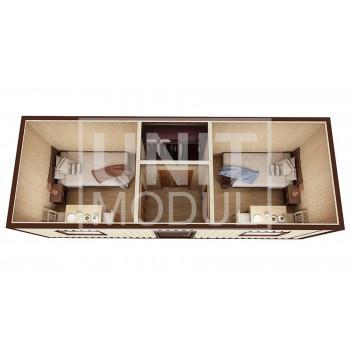 (БД-06) Бытовка металлическая (блок-контейнер) дачная с гардеробной
