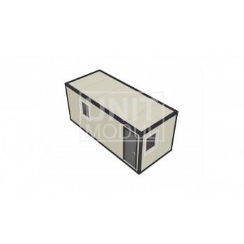 (СП-04) Бытовка металлическая (блок-контейнер) из сэндвич-панелей проходная