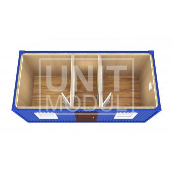 (БК-04) Бытовка металлическая (блок-контейнер) распашонка