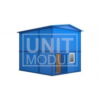 (МЗ-03) Модульное здание из шести блок-контейнеров с фальш-кровлей