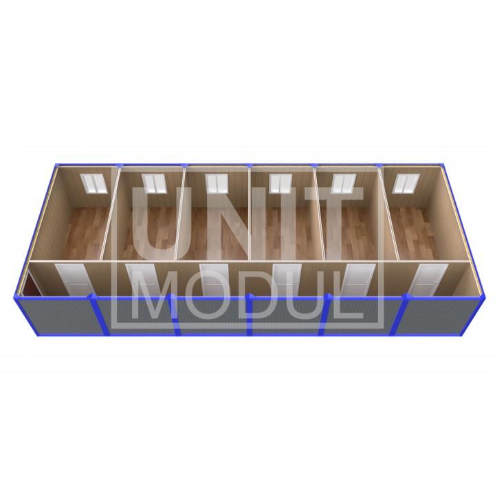 (ПЗ-61) Модульный штаб из 6-ти бытовок (блок-контейнеров) с кабинетами