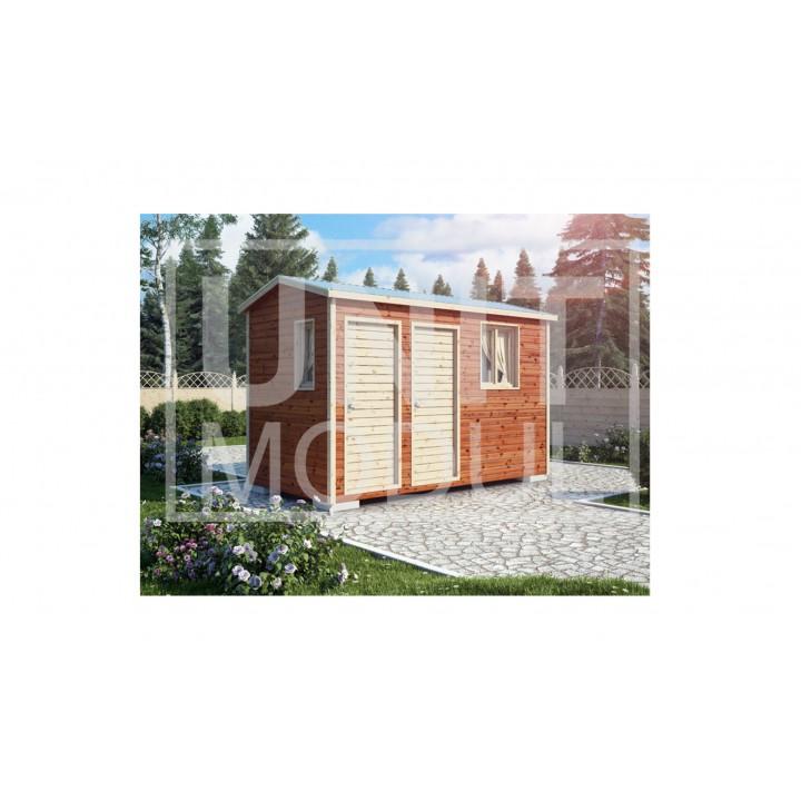 (ХБ-15) Хозблок с туалетом двухскатная крыша 4*2 недорого