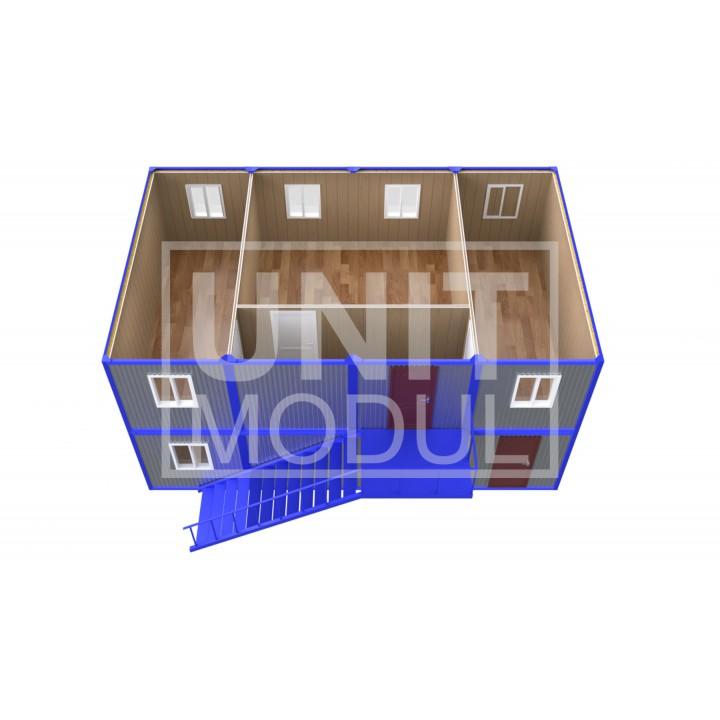 (ПЗ-81) Модульный штаб из 8-ми бытовок (блок-контейнеров) двухэтажный