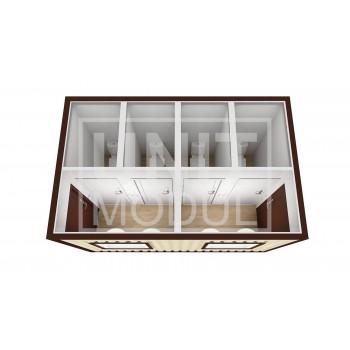 (СБ-03) Бытовка металлическая (блок-контейнер) сантехническая с двумя входами