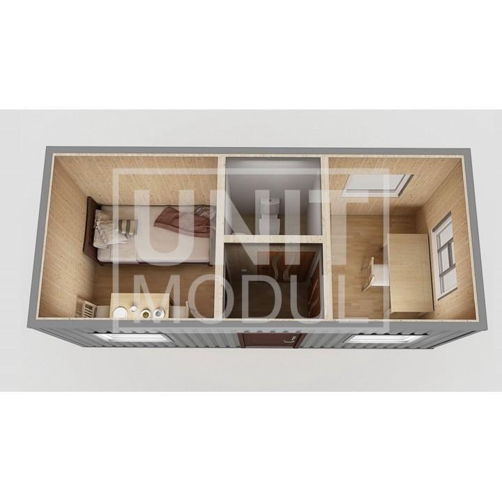 (КПП-04) Пост охраны модульный с комнатой отдыха недорого