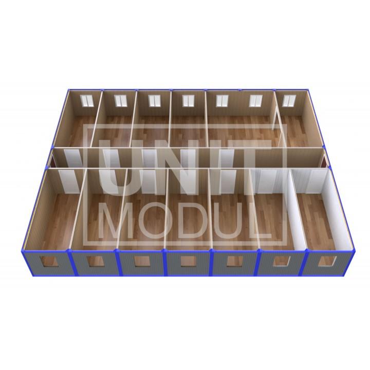 (ПЗ-140) Модульный штаб из 14-ти бытовок (блок-контейнеров)