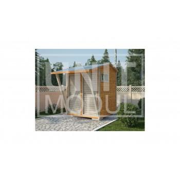 (ХБ-05) Хозблок туалет душ крыша двухскатная 2*2 навес
