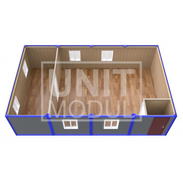 (ПЗ-41) Модульный штаб из 4х бытовок (блок-контейнеров) с залом для совещаний