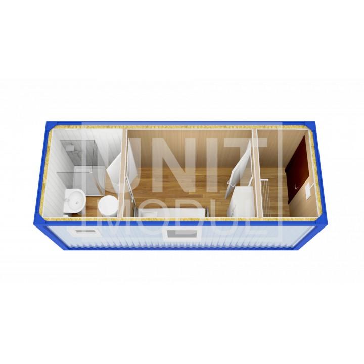 (БЖ-10) Бытовка металлическая (блок-контейнер) жилая с прихожей и туалетом недорого