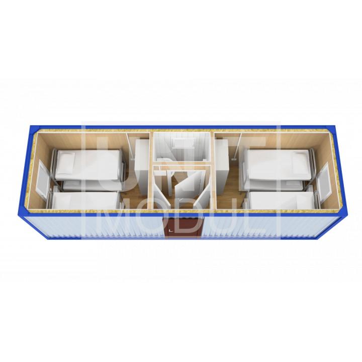(БЖ-03) Бытовка металлическая (блок-контейнер) жилая распашонка
