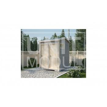 (ХБ-04) Хозблок с туалетом и душем крыша двухскатная 2*2