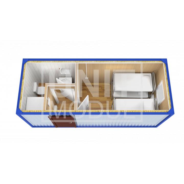 (БЖ-07) Бытовка металлическая (блок-контейнер) разделенная недорого
