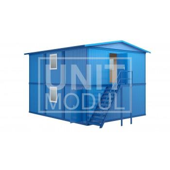 (МЗ-05) Модульное здание из шести блок-контейнеров с наружной лестницей