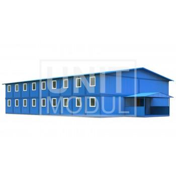 (МЗ-10) Модульное здание двухэтажное общежитие