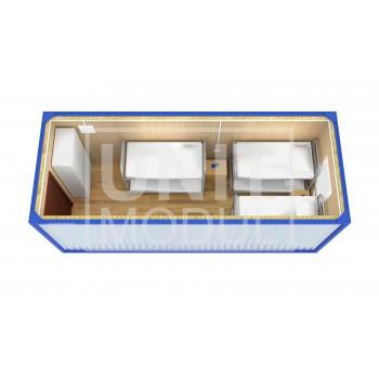 (БЖ-01) Бытовка металлическая (блок-контейнер) жилая стандарт