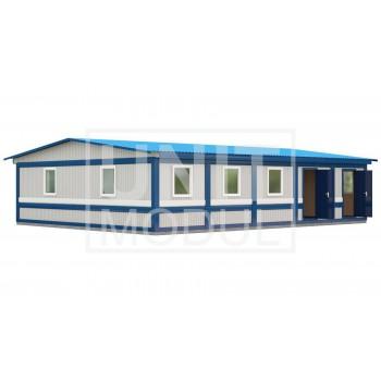 (МЗ-08) Модульное здание столовая из пяти блок-контейнеров