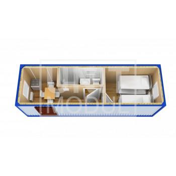 (БЖ-12) Бытовка металлическая (блок-контейнер) жилая с кухней