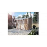 (ХБ-13) Хозблок туалет душ с навесом двухскатная крыша 3*2
