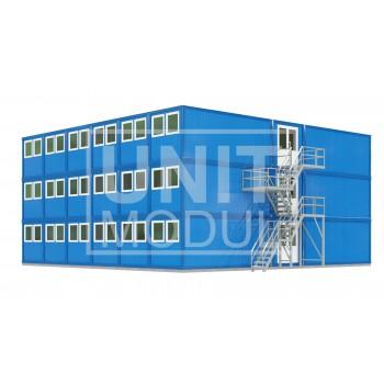 (МЗ-11) Модульное здание трехэтажное общежитие
