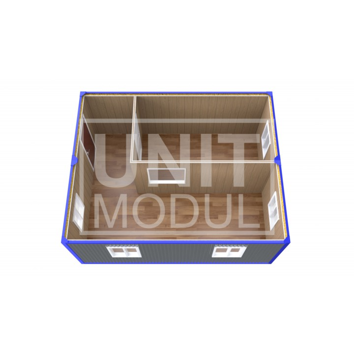 (ПЗ-12) Модульный штаб из 2-х бытовок (блок-контейнеров) с кабинетом недорого