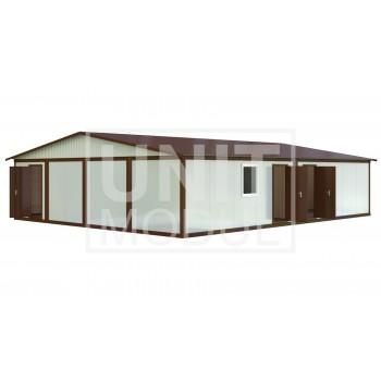 (МС-06) Модульное здание из восьми блок-контейнеров (сэндвич-панели)