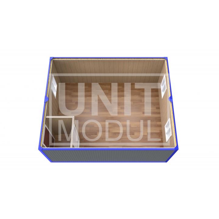 (ПЗ-11)  Модульный штаб из двух бытовок (блок-контейнеров) с тамбуром