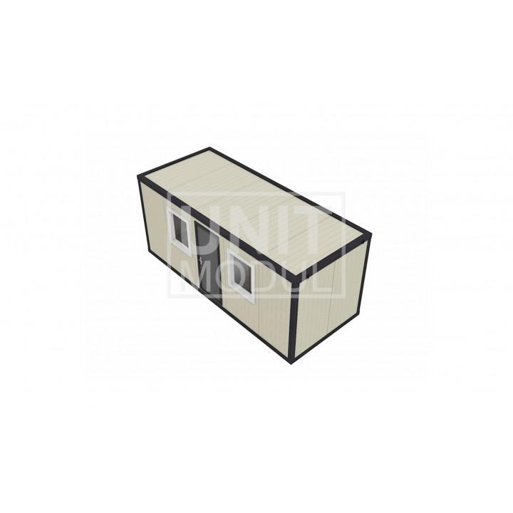 (СП-03) Бытовка металлическая (блок-контейнер) из сэндвич-панелей распашонка