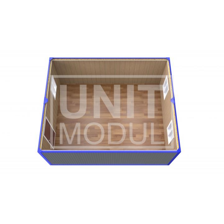 (ПЗ-10) Модульный штаб из двух бытовок (блок-контейнеров)