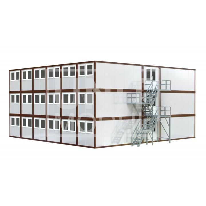 (МС-09) Модульное здание трехэтажное (сэндвич-панели)