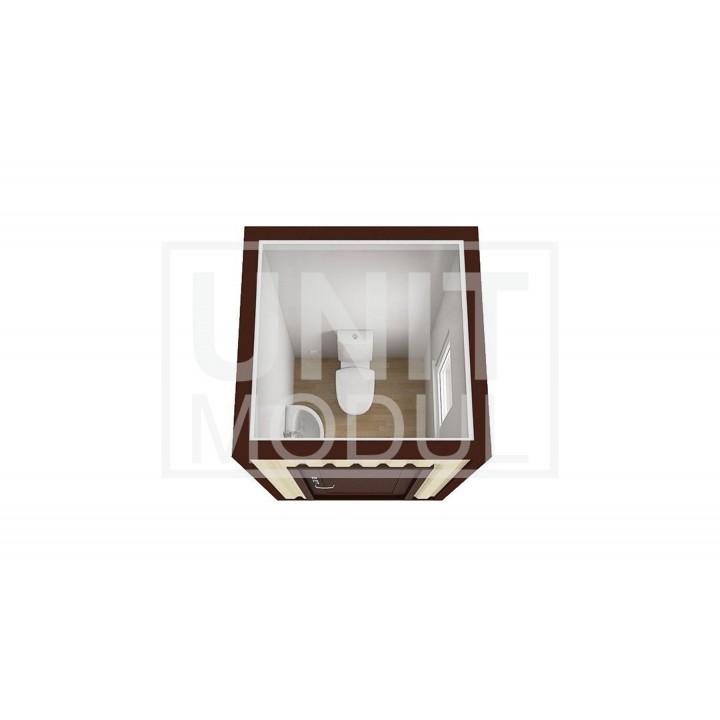 (СБ-01) Бытовка металлическая (блок-контейнер) сантехническая стандарт