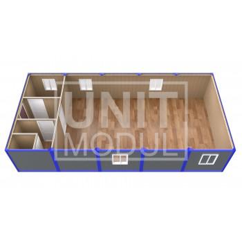 (ПЗ-50) Модульный штаб из 5-ти бытовок (блок-контейнеров) с залом для совещаний
